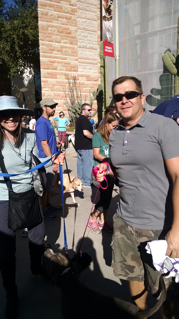 Phil & Jessica of D&H AC at the Humane Society SWEAT FOR PETS WALK
