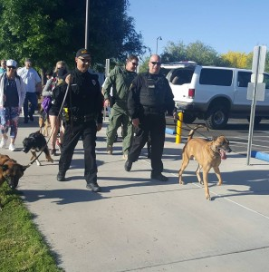 D&H AC with the Tucson police K9 walk 2016b