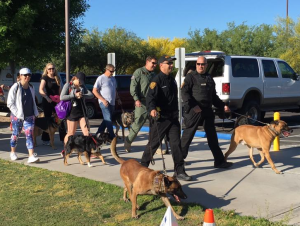 D&H AC with the Tucson police K9 walk 2016
