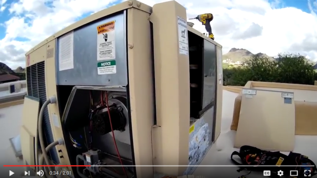 Inspecting a Rheem Air Conditioning Unit (Gas Pack) - D&HAC Tucson
