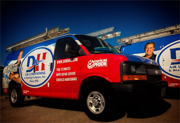 D&H AC: Our fleet is on the road 24/7 to provide air conditioning repair services