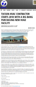 D&H's new Tucson facilities in the news on ABC 7 KLTV
