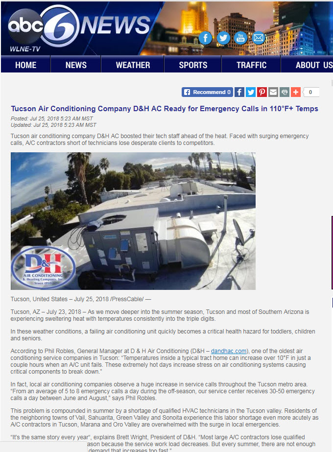 ABC6 features D&H AC in the news