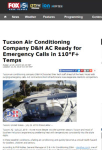 Fox5 features D&H AC in the news
