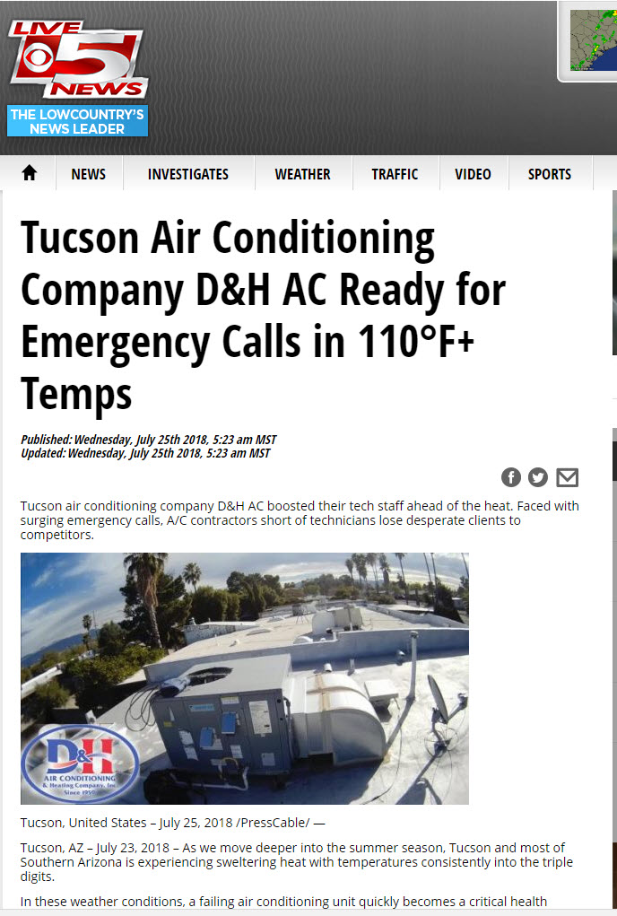 Live 5 News features D&H AC in the news