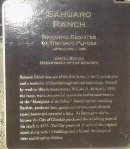 historical places marker: Sahuaro Ranch