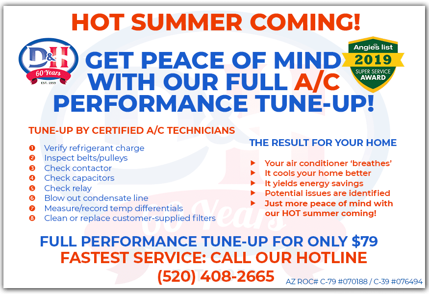 Air Conditioning Specials - $79 Performance tune-up