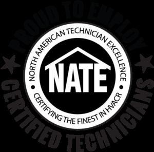 NATE CERTIFIED HVAC TECHNICIANS - SYMBOL