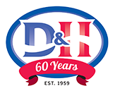 D&H air conditioning service logo