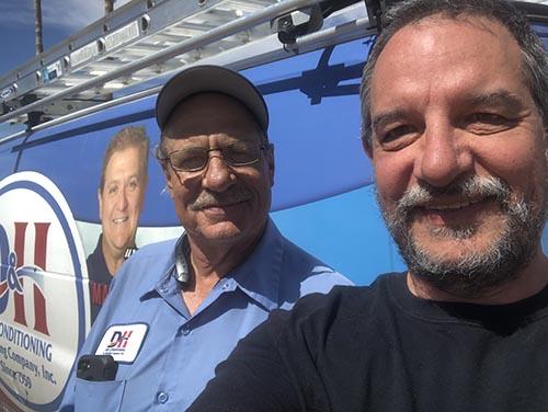 D&H client and HVAC technician