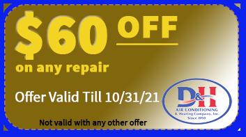 D&H AC Repair coupon
