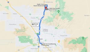 Map from D&H Air Conditioning to Catalina AZ